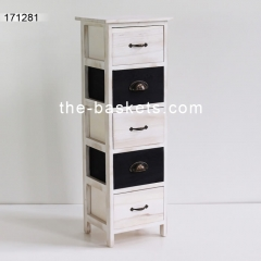 Wood cabinet with drawer