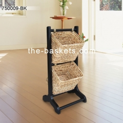 Magazine rack with two tiers