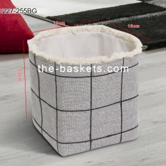 Foldable storage basket